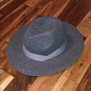Wool grey fall hat